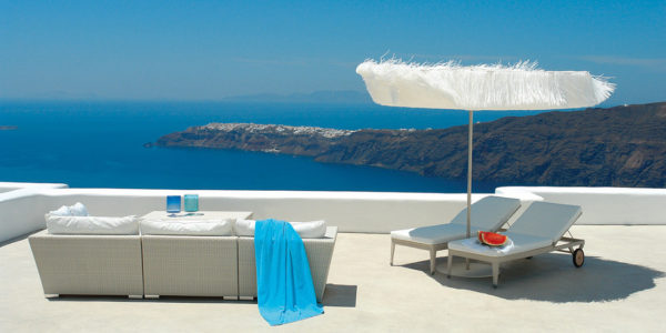 White Santorini, Santorini - Frou Frou Parasol