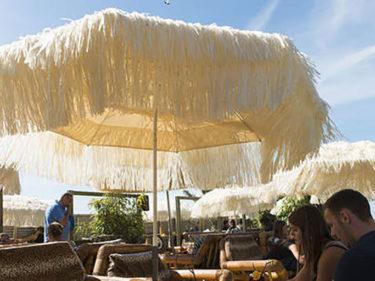 Classico parasol 1,90m inox raffia