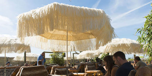 Classico parasol 1,90m stainless steel with raffia