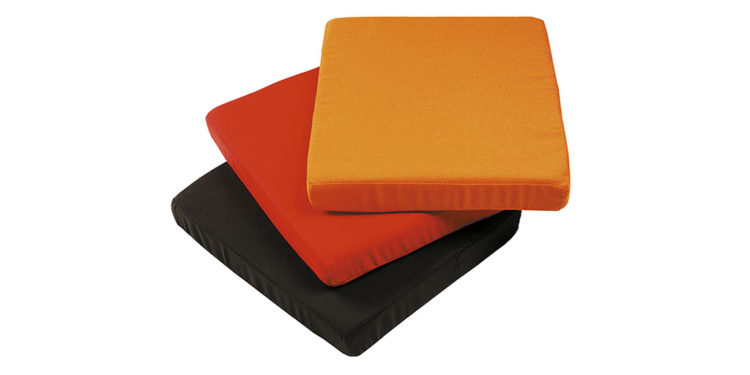 cushions for cube parasol base, colours black, red and orange