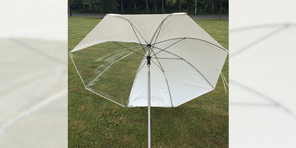 Welding and working umbrella transparant 2.2 m