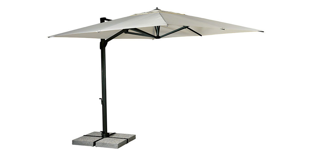 Sonata floating parasol: all the space under the floating roof remains free