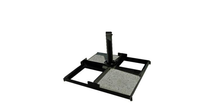 base à dalles luxe 140 kg - noir