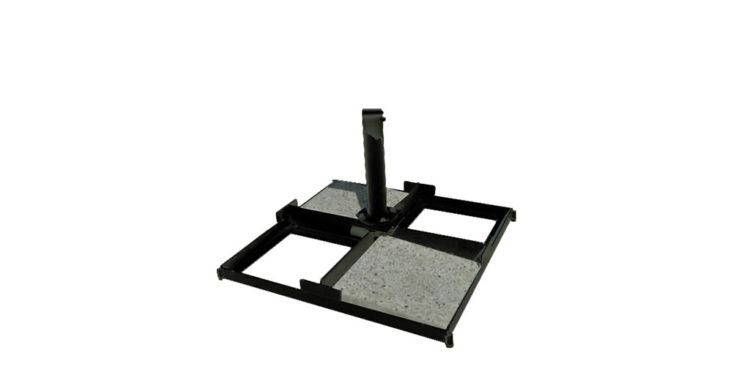 tile base luxury 200 kg - black