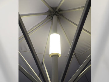 LED Integrated lighting system in Macsymo parasol