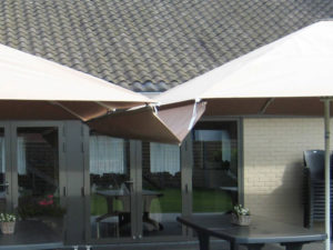 goot voor vierkante of rechthoekige parasols