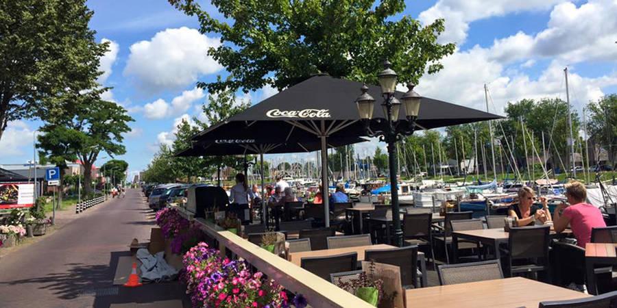 Restaurant De Haven van Huizen koos voor de MacSymo Parasol