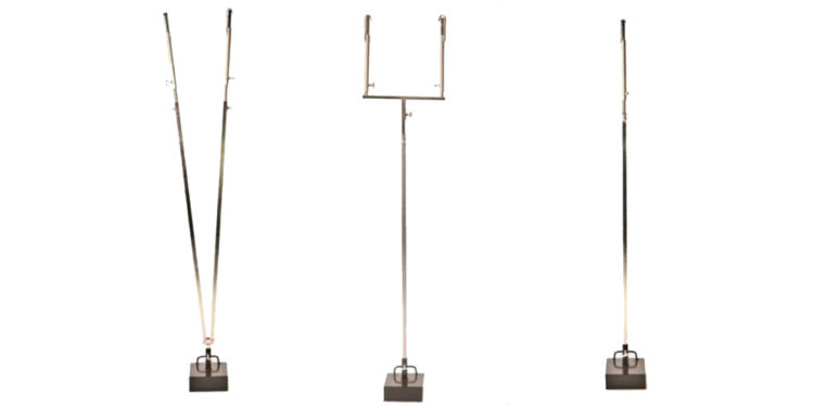 Corner supports and weights for market stall canopies
