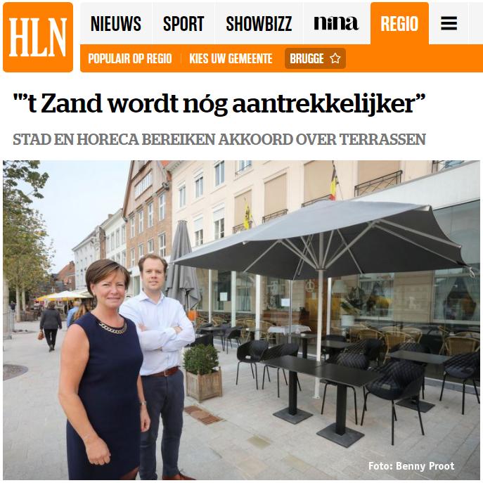 Stad Brugg en horeca bereiken akkoord over terrassen