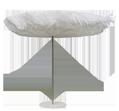 frou frou parasol in de wind - Sywawa verbluft designwereld in Milaan