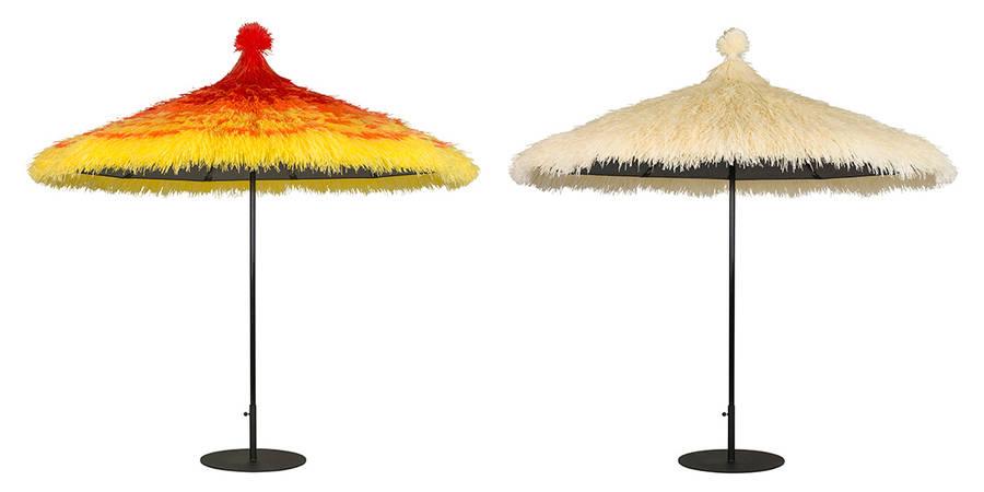 Tahiti open parasols