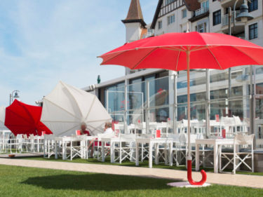 Gulliver parasol at Piazza Knokke
