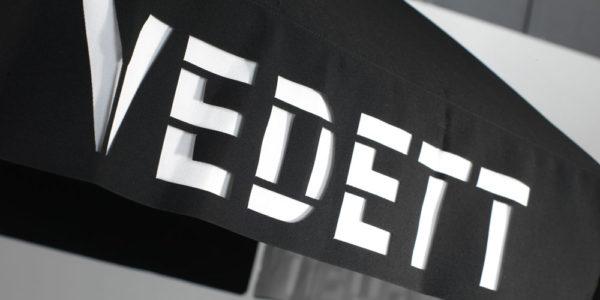 Detail Vedett laser-cut parasol