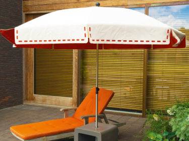 Couture parasol on a private terrace