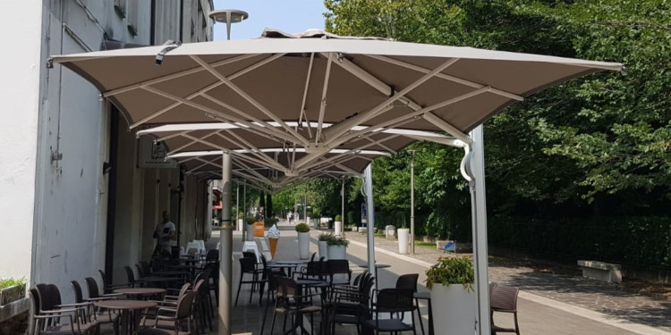 Trevo parasol on a terrace