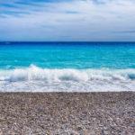 the azure-blue coastline of the Côte d'Azur