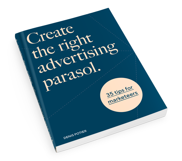 Advertising parasol tips