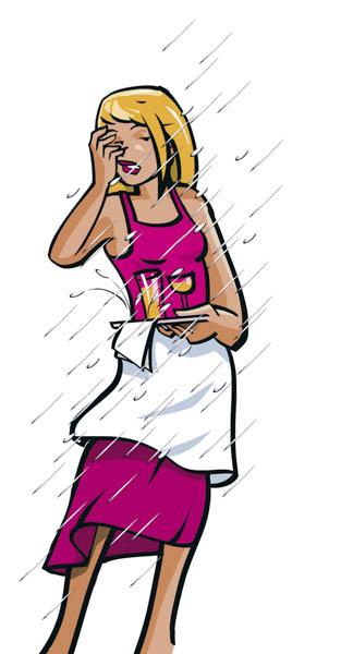 Acheter les bons parasols de terrasse permet d'éviter les frustrations du personnel.