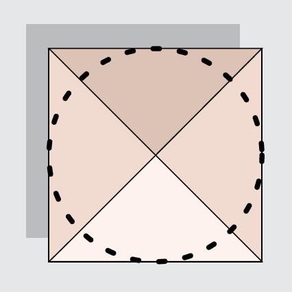 Vierkant parasol schaduw diagramma