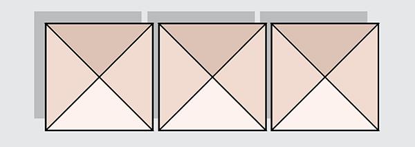 Vierkante parasols diagramma